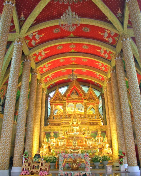 Inside of A Building in Wat Phra That Nong Bua, Ubon