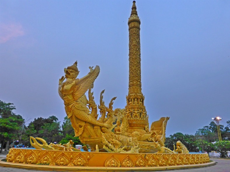 Giant Candle and Garuda in Thung Si Muang Park, Ubon