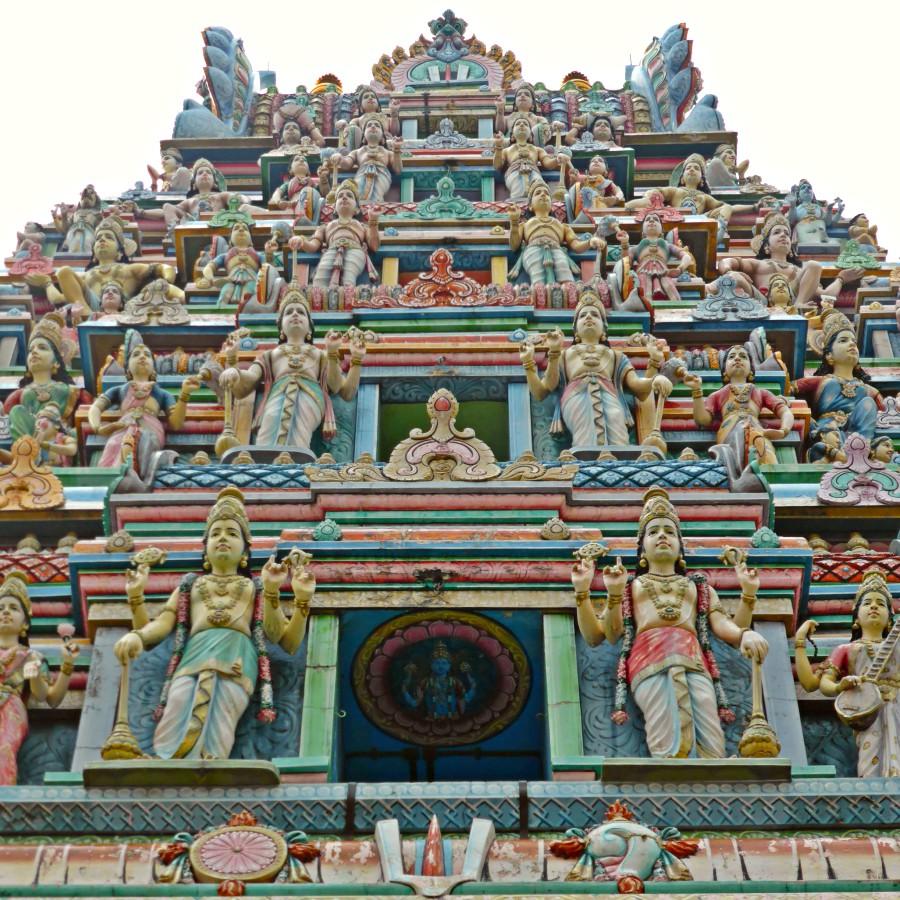 Gopuram of Shri Srinivasa Perumal Temple