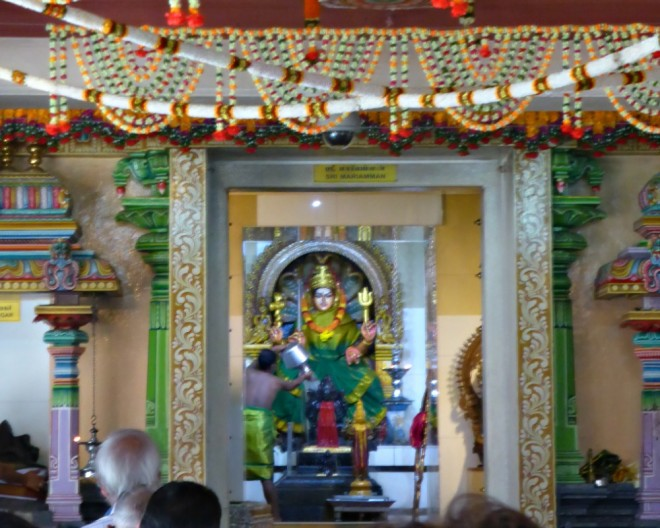 A ceremony on Sri Mariamman Temple
