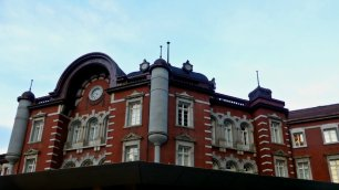 The red brick Tokyo Station