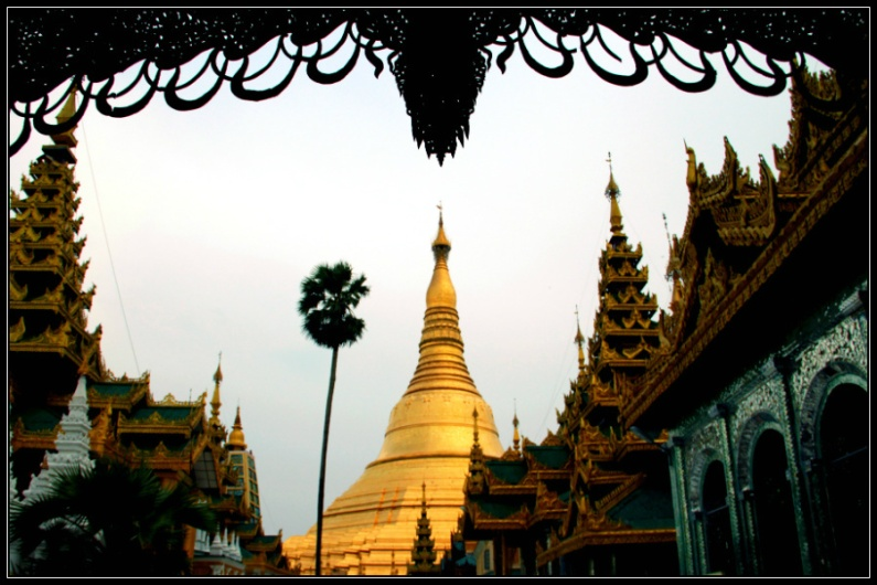 Shwedagon Paya, from the top of the stairs' entrance