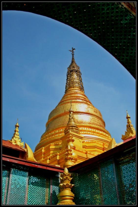 The Main Stupa at Su Taung Pyay, Mandalay Hill, Mandalay, Myanmar