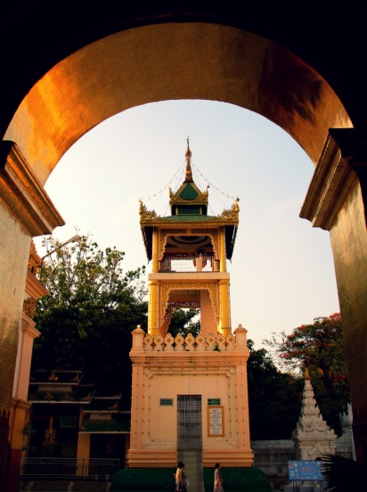 A Drum Tower in Mahamuni, Mandalay