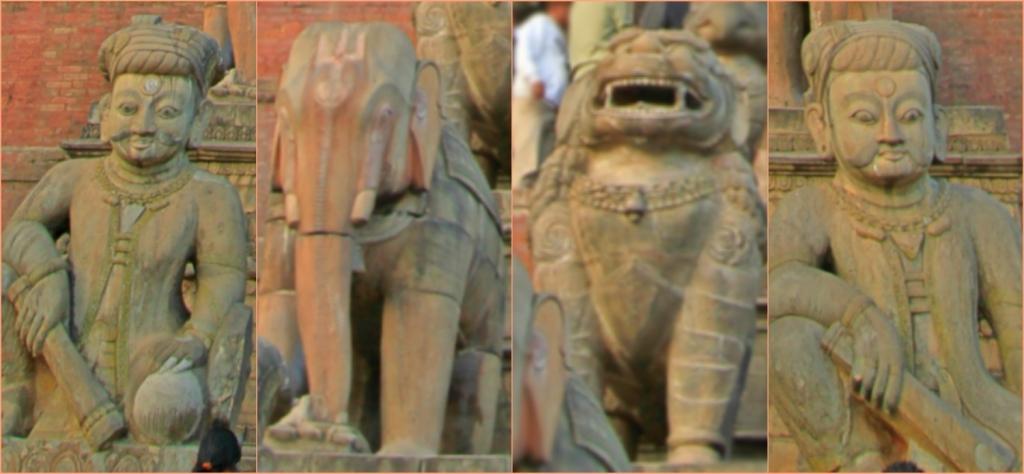 The Guards of Nyatapola Temple