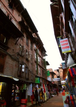 Narrow lanes in Bhaktapur