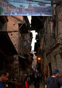 The way to Bhaktapur Durbar Square