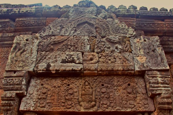 A Tympanum of the Wat Phou's Gallery