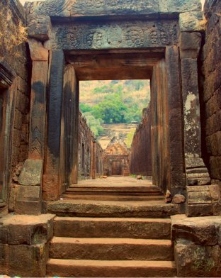 Inside the North Palace of Wat Phou