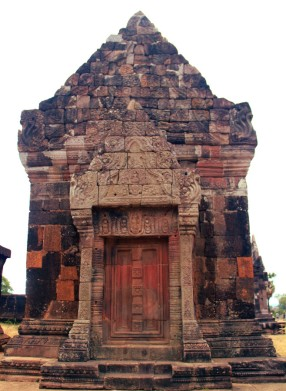 North Palace's False Door, Wat Phou