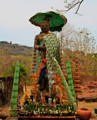 Dwarapala holds a Stick, Wat Phou