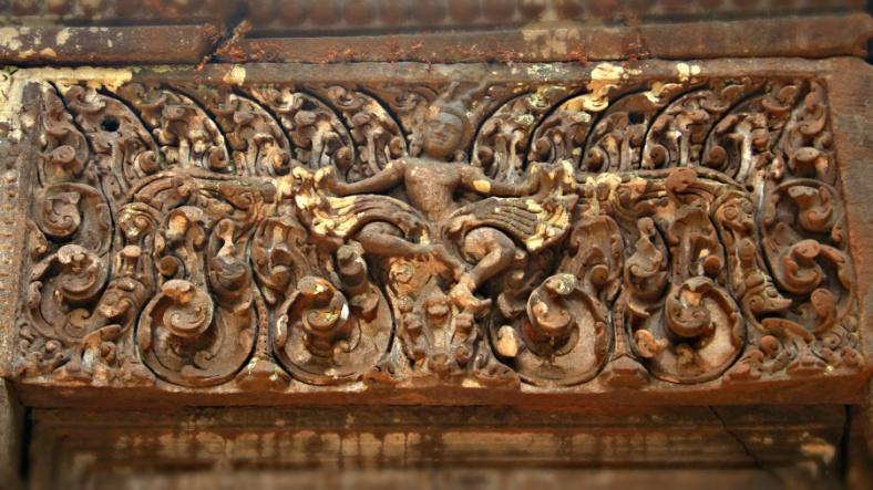 Krishna defeats Kaliya, Wat Phou