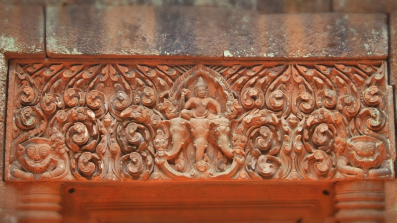 Indra on Airvatha, Wat Phou