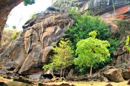Boulder behind Wat Phou
