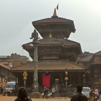Dattatreya Temple, the main building in Dattatreya Sq