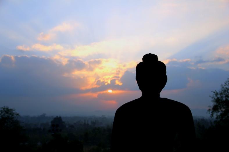Buddha Statue facing East