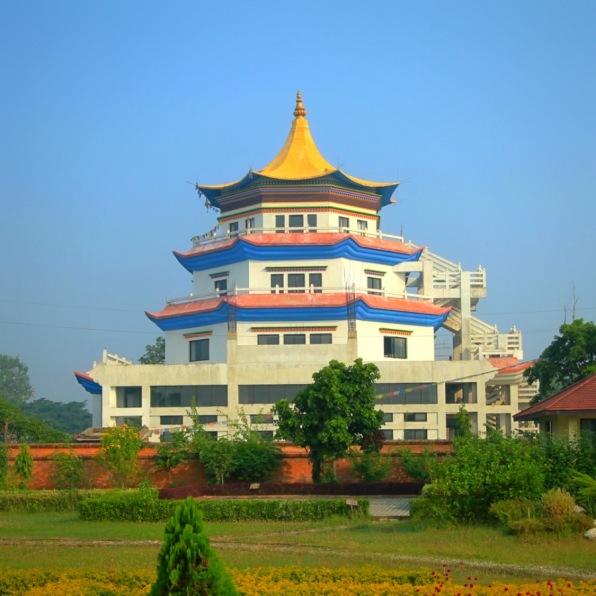A beautiful monastery in Lumbini