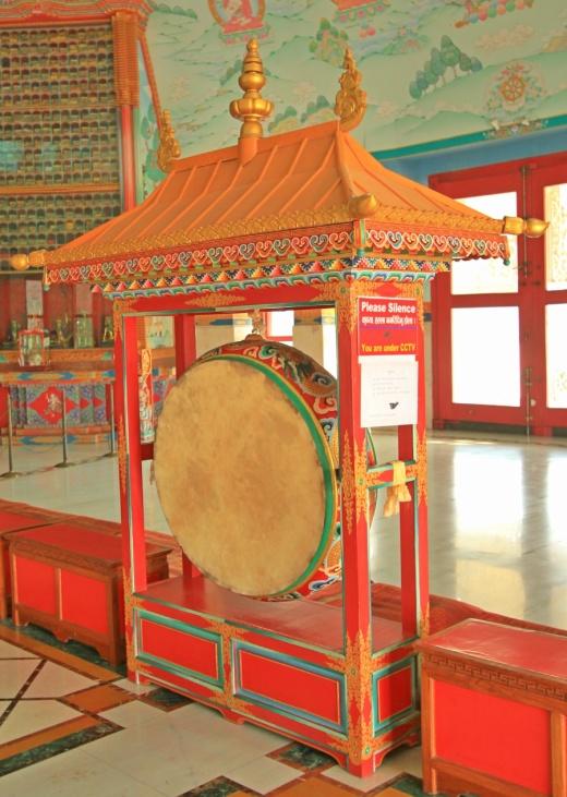 A drum inside The Great Drigung Kagyud Lotus Stupa