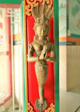 Inside the The Great Drigung Kagyud Lotus Stupa