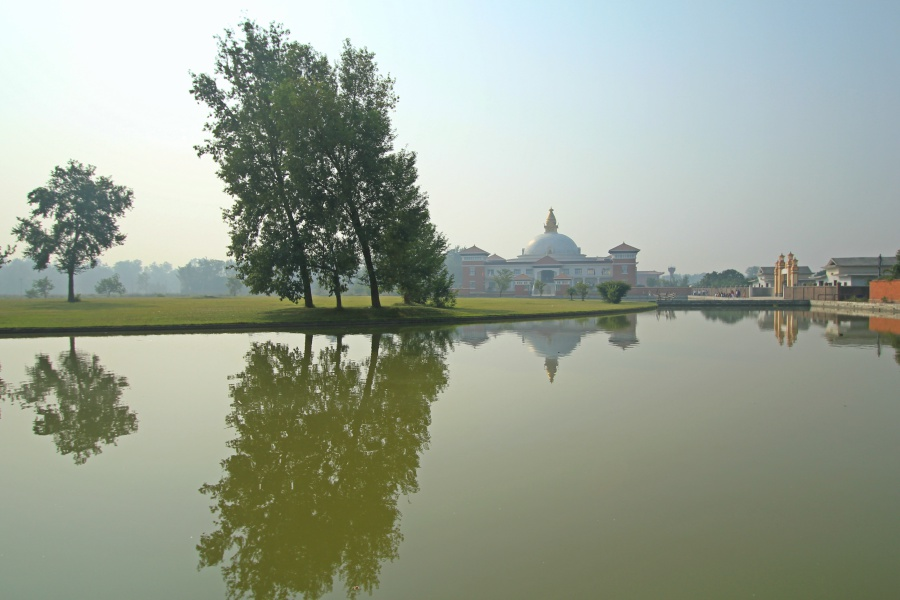 A Monastery near the pond, Lumbini
