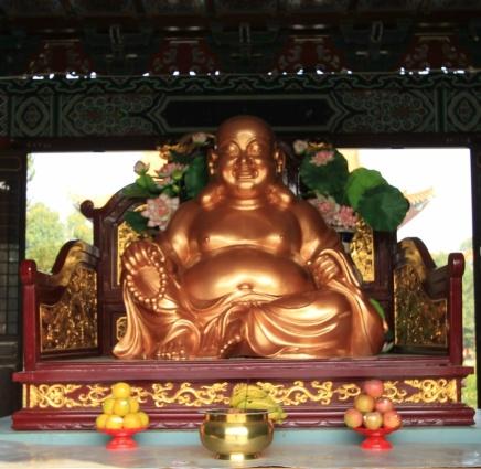 Inside Zhong Hua temple, Lumbini