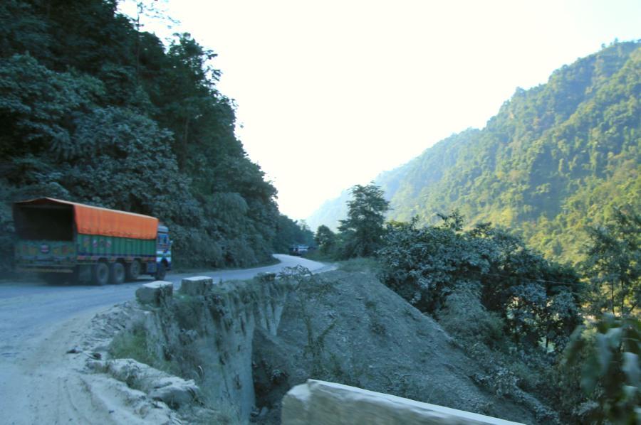 Dangerous Road to Mugling, Nepal
