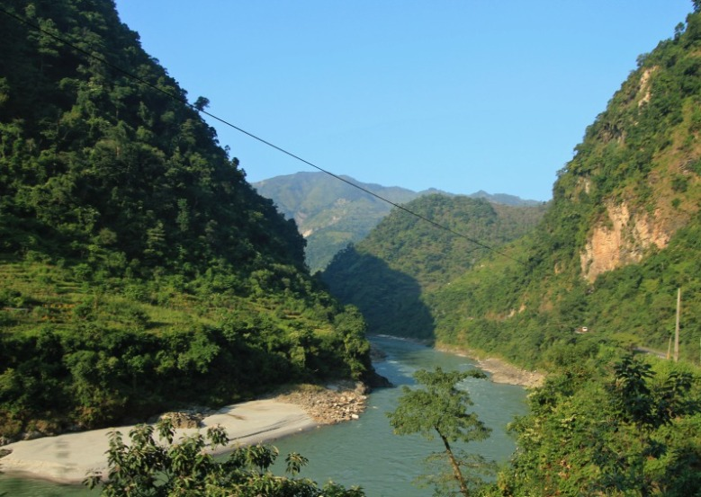 Trishuli River and the Gorges, road to Mugling, Nepal