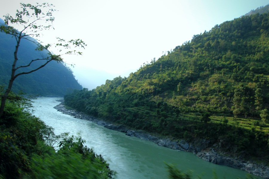 Beautiful Trishuli River, Way to Mugling, Nepal