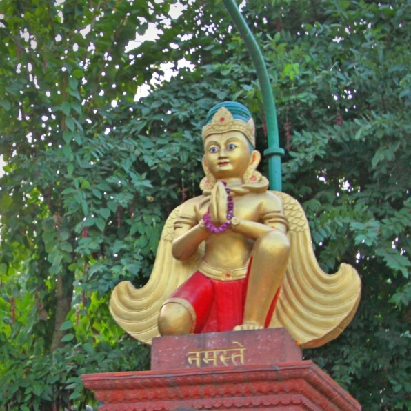 A Statue at Manakamana Cable Car St, Kurintar, Nepal