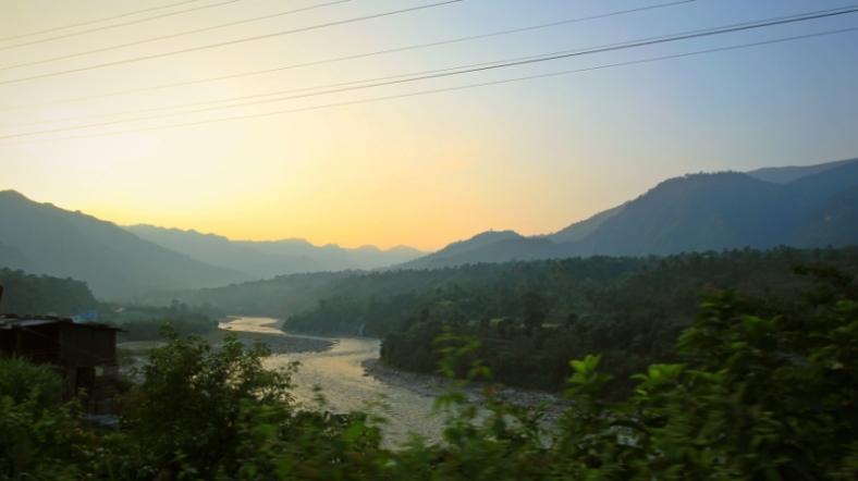 Trishuli River and the Mountains