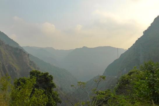 The deep valleys