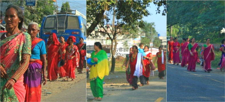 Women around Narayangarh, Nepal