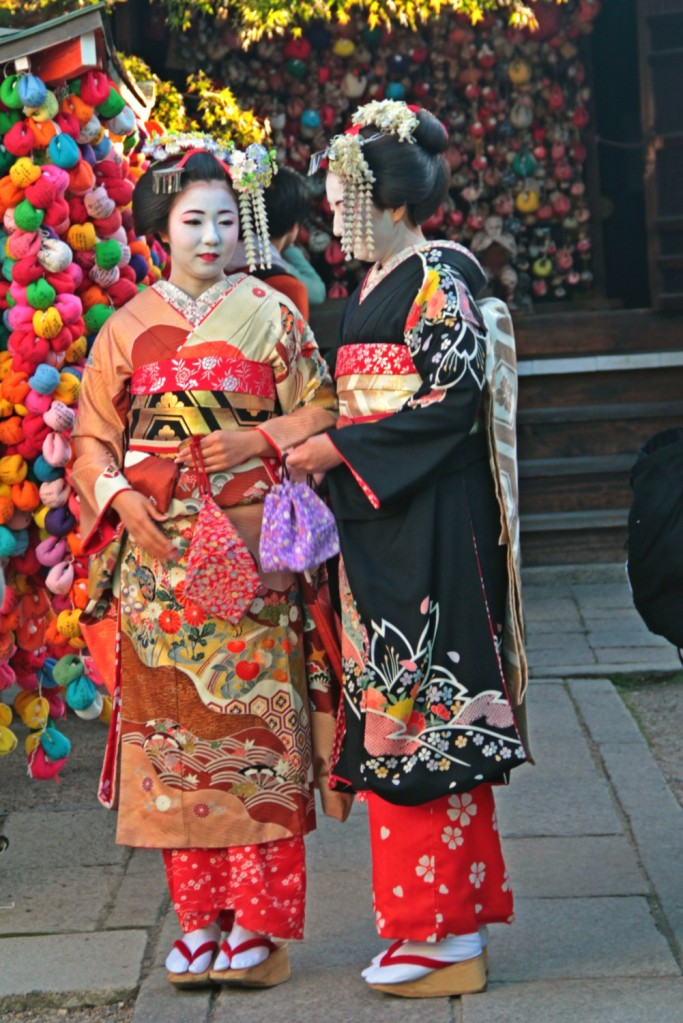 A beautiful Japanese traditional clothing