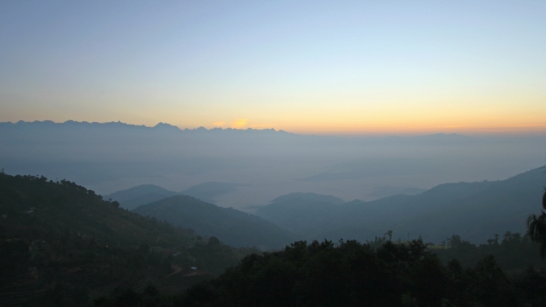 About Sunrise in Nagarkot