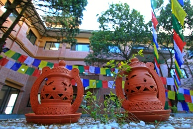 The inner yard of Club Himalaya Resort, Nagarkot