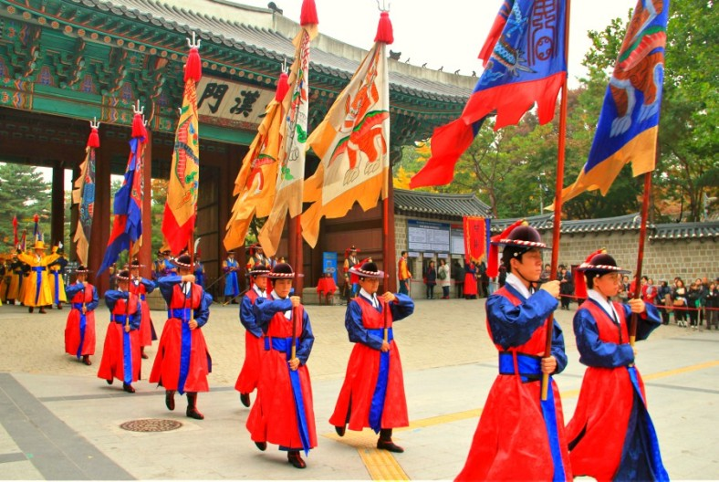 Colorful on Changing of the Royal Guards Ceremony