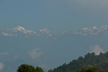 The snow capped Himalaya