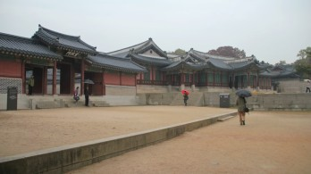 In front of Seonjeongmun (the gate of Seonjeongjeo)