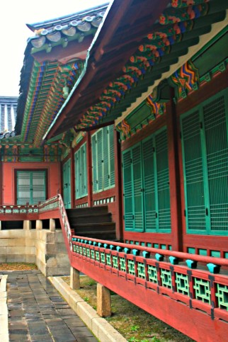 Walkway in Huijeongdang and Daejojeon - the private area for the King and Queen