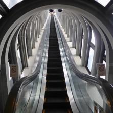 The Glass Escalator in Umeda