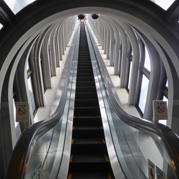 The Glass Escalator in Umeda