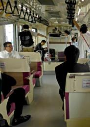 Inside Monorail from Haneda