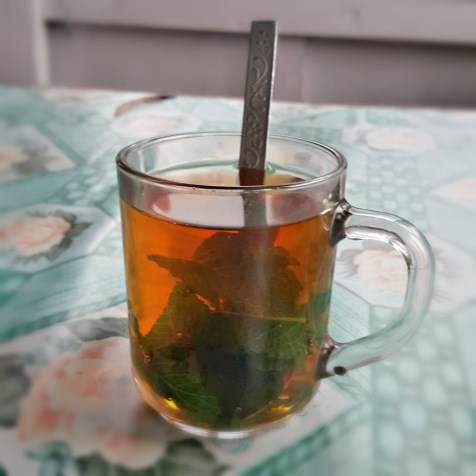 Tea with Mint Leaves