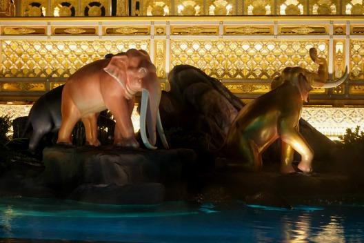 Heavenly Pond with Elephants