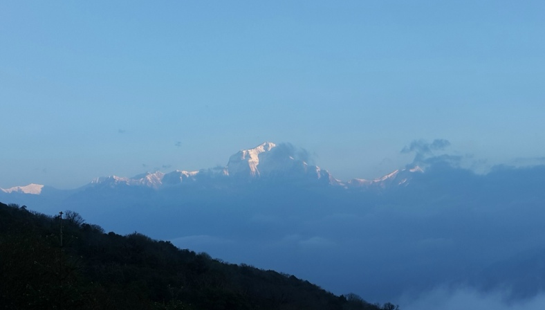 A Glimpse of Mt. Dhaulagiri