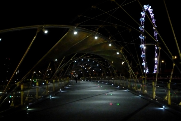 Only a Couple crossed the Helix Bridge