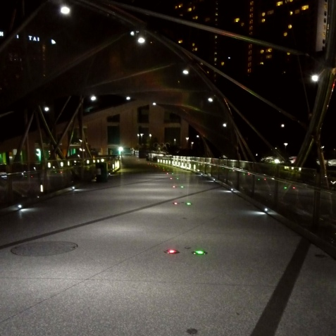 Nobody until the end of the Helix Bridge