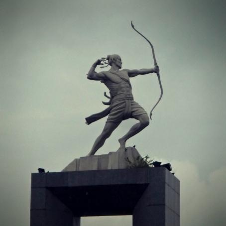 A Sculpture near National Stadium