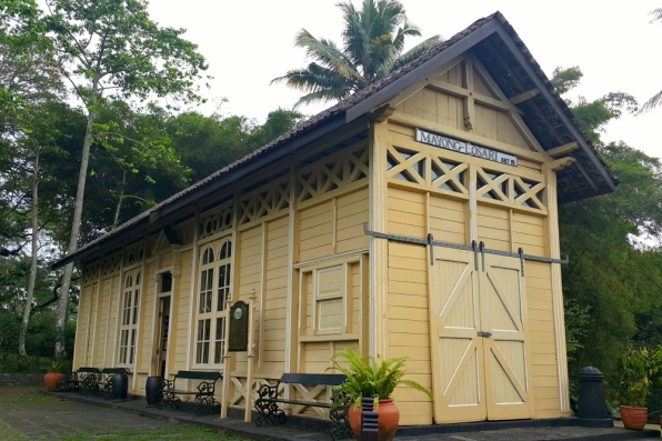 Mesastila - The Drop-Off Building, rebuilt from the original a train station building