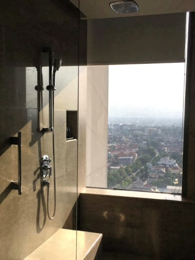 The Window of the Hotel Bathroom in Solo
